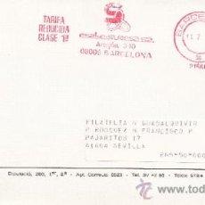 Sellos: FRANQUEO MECANICO 21566 BARCELONA, COLABORADORA, GREMIO DE FILATELIA Y NUMISMATICA. Lote 38771719