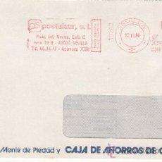 Sellos: FRANQUEO MECANICO 19262 SEVILLA, COLABORADORA, MONTE PIEDAD Y CAJA AHORROS CORDOBA, . Lote 38774357