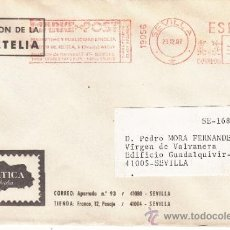 Sellos: FRANQUEO MECANICO 19056 SEVILLA, COLABORADORA, BAETICA FILATELIA, . Lote 38774604