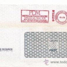 Sellos: FRANQUEO MECANICO 18713 MONTCADA I REIXAC (BARCELONA), COLABORADORA, FIATC MUTUA DE SEGUROS, . Lote 38778223