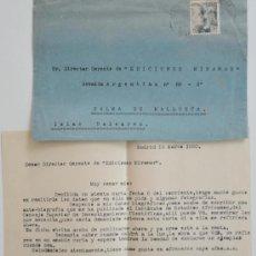 Sellos: CARTA ESCRITA A MAQUINA FIRMADA POR EL ESCULTOR DE CONGO BELGA, FRANÇOIS MOPILA+SOBRE 1950 . Lote 38740704