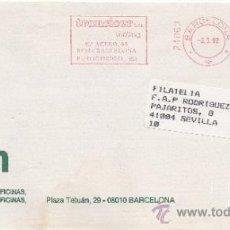 Sellos: FRANQUEO MECANICO 24860 BARCELONA, COLABORADORA, DESMON ELEMENTOS, . Lote 38784077