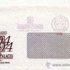 Sellos: FRANQUEO MECANICO 24802 LAGUARDIA (ALAVA), BODEGAS PALACIO, VINOS, . Lote 38784185