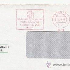 Sellos: FRANQUEO MECANICO 24428 SEVILLA, MINISTERIO DE TRABAJO Y SEGURIDAD SOCIAL, DIRECCION PROVINCIAL, . Lote 38784538