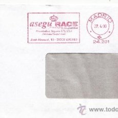 Sellos: FRANQUEO MECANICO 24201 MADRID, ASEGU RACE, CORREDURIA DE SEGUROS,. Lote 38784706