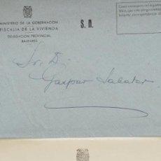 Sellos: CARTA A MANO FIRMADA POR EL ESCRITOR, JULIO SANMARTIN PEREA+SOBRE 1950 . Lote 38894716