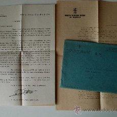Sellos: 2 CARTAS ENVIADAS POR FALANGE ESPAÑOLA TRADICIONALISTA A SUS AFILIADOS+SOBRE 1964 . Lote 39018702