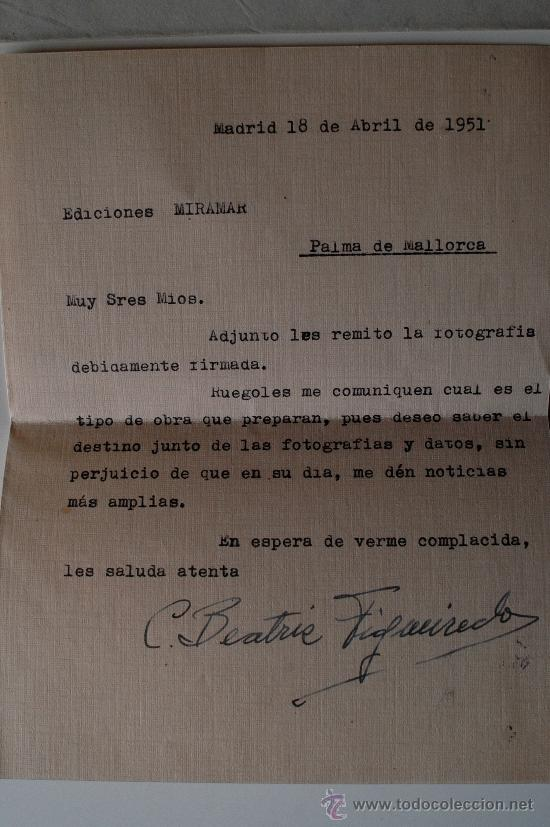 Sellos: CARTA A MAQUINA FIRMADA POR LA PINTORA DE BENGUELA (ANGOLA) CARMEN FIGUEIREDO CARAVACA - Foto 2 - 39034959
