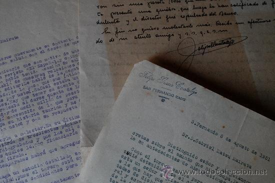 Sellos: 4 CARTAS ORIGINALES FIRMADAS POR EL CRITICO TAURINI, FELIPE GARCIA CANTALEJO (AÑOS 50) - Foto 2 - 45163545