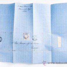 Sellos: CARTA DE TARREGA A MANRESA CON SELLO DE 50.MILS DE Eº,AÑO 1870. Lote 39264359