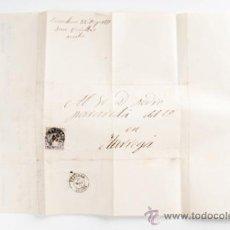 Sellos: CARTA DE BARCELONA A TARREGA CON SELLO DE 50.MILS DE Eº,AÑO 1871. Lote 39264651