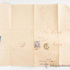 Sellos: CARTA DE TARREGA A VALLS CON SELLO DE 50.MILS DE Eº,AÑO 1871. Lote 39265402