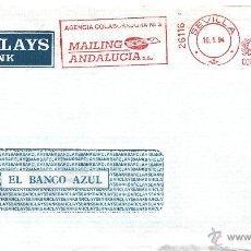 Sellos: FRANQUEO MECANICO 26116 MODIFICADO SEVILLA, COLABORADORA, BARCLAYS. Lote 39424802