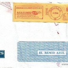 Sellos: FRANQUEO MECANICO 26116 DOBLE MODIFICADO SEVILLA, COLABORADORA, BARCLAYS. Lote 39424809