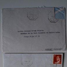 Sellos: 2 SOBRES CIRCULADOS 1982 REMITE DE JOAN ANTONI ESTADES DE MONTCAIRE BISBAL . Lote 39508650
