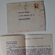 Sellos: CARTA A MAQUINA FIRMADA POR EL PINTOR, JOSE BERGE LARROSA+SOBRE 1950! . Lote 39544185