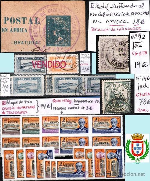 CEUTA Y MELILLA GIBRALTAR-H. POSTAL, MAT. LOCALES Y TP. P.V.1.298 €. VER CONDICIONES Y 7 FOTOS MAS. (Sellos - Historia Postal - Sello Español - Sobres Circulados)