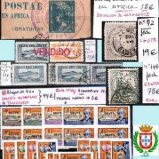 Sellos: CEUTA Y MELILLA GIBRALTAR-H. POSTAL, MAT. LOCALES Y TP. P.V.1.298 €. VER CONDICIONES Y 7 FOTOS MAS.. Lote 38538950
