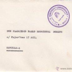 Sellos: CORREOS SEVILLA MARCA MINISTERIO DE TRANSPORTES Y COMUNICACIONES, SUBDELEGACION PROVINCIAL DE COMUN+. Lote 39639646