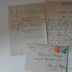 Sellos: 2 CARTAS A MANO FIRMADA POR LA PINTORA MARGARITA LAURENS DE GIL, 1951! SOBRE CIRCULADO . Lote 39666268