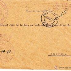 Sellos: ,,FRANQUICIA MINISTERIO DE LA GOBERNACION, GUARDIA CIVIL, ISLA CRISTINA (HUELVA) MATº FECHADOR, MAR+. Lote 39873781
