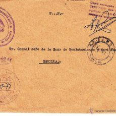 Sellos: ,,FRANQUICIA MINISTERIO DE LA GOBERNACION, GUARDIA CIVIL, ALMERIA, MATº FECHADOR, MARCA 212 COMANDA+. Lote 39866557