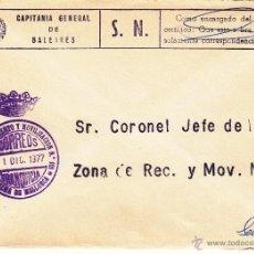 Sellos: ,,FRANQUICIA ZONA RECLUTAMIENTO Y MOVILIZACION Nº 101 PALMA DE MALLORCA,. Lote 39883388