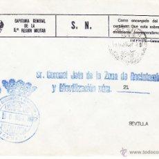 Sellos: ,,FRANQUICIA ZONA RECLUTAMIENTO Y MOVILIZACION Nº 91 GRANADA, MATº. Lote 39883705