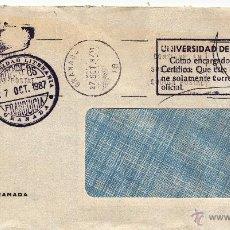 Sellos: ,,FRANQUICIA UNIVERSIDAD LITERARIA, GRANADA, MATº RODILLO, MARCA UNIVERSIDAD DE GRANADA, COMO ENCAR+. Lote 39916637