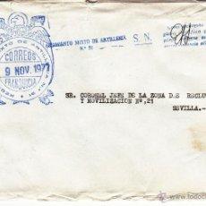 Sellos: ,,FRANQUICIA REGIMIENTO MIXTO DE ARTILLERIA Nº 91 (PALMA DE MALLORCA), MARCA LINEAL REGIMIENTO MIXT+. Lote 39917436