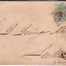Sellos: CARTA CON FRANQUEO BICOLOR MATASELLO MUDO - LLEGADA SEVILLA - Nº EDIFIL 154 Y 164 . Lote 40071045