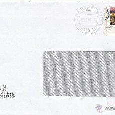 Sellos: ETIQUETA ATMS Nº 4192 EURO C.2.113, MATº RODILLO CORREOS CTA SEVILLA, CORREOS LA COMPAÑIA DE TODOS,. Lote 40334296