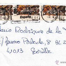 Sellos: ETIQUETA ATMS Nº 5008(4) EURO C.2.112 Y SELLO, MATº RODILLO VALENCIA SUC 15, CORREOS ESPAÑA FRANQUEO. Lote 40334490