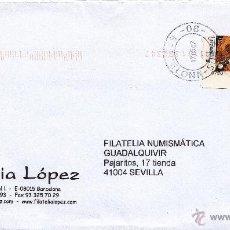 Sellos: ETIQUETA ATMS Nº 3720 EURO C.2.112, MATº RODILLO BARCELONA - SUC 22 -08-, PAQUETE AZUL PAQUETE A DOM. Lote 40334775