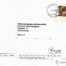 Sellos: ETIQUETA ATMS S/Nº EURO C.2.112, MATº RODILLO VALENCIA SUC 9/4615094, CORREOS FRANQUEO PAGADO EN OFI. Lote 40334866