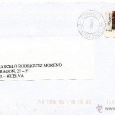 Sellos: ETIQUETA ATMS Nº 5803 EURO C.2.111, MATº RODILLO CORREOS -21- CTA. HUELVA, POR SU SEGURIDAD, FAX Y B. Lote 40335031
