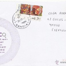 Sellos: ETIQUETA ATMS Nº 4279 EURO C.2.109, MATº FECHADOR GANDIA -46- VALENCIA CORREOS Y TELEGRAFOS,. Lote 40335259