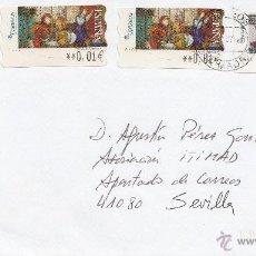 Sellos: ETIQUETA ATMS S/Nº 6131,6131 EURO C.2.106,117Y117, MATº RODILLO CORREOS CTA MADRID, CORREOS LA COMPA. Lote 40335881