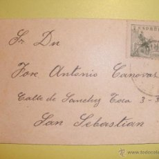Sellos: SOBRE CIRCULADO MADRID-SAN SEBASTIAN . Lote 40467239