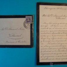 Sellos: SOBRE CON CARTA SELLO CADETE 15 CENT MATASELLOS DE TARRAGONA AÑO 1903. Lote 40575727