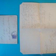 Sellos: SOBRE CON CARTA SELLO MEDALLON 15 CENT MATASELLOS DE CULLERA AÑO 1915. Lote 40575788