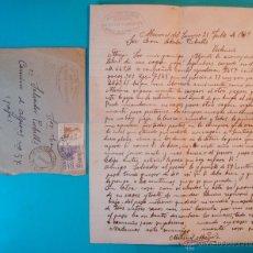 Sellos: SOBRE CON CARTA SELLOS FRANCO 50 CENT EL CID 5 CENT MATASELLOS MONREAL DEL CAMPO TERUEL AÑO 1949. Lote 40575953