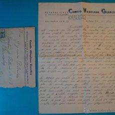 Sellos: SOBRE CON CARTA DE REPARACIONES CAMILO VILLAPLANA GONZALBES SELLO FRANCO 40 CENT MATASELLO DE ALCOY. Lote 40576255