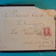 Sellos: SOBRE CON SELLO PERSONAJES 30CENTS MATASELLO DE VILLAREAL AÑO 1933. Lote 40576302