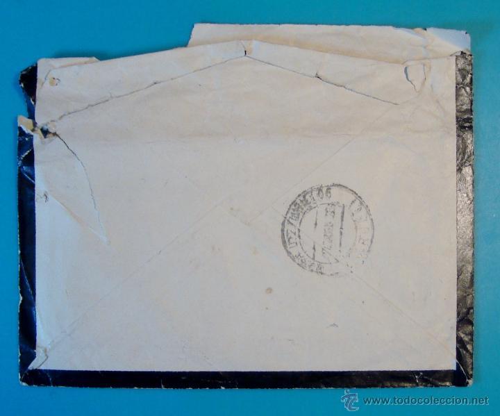 Sellos: SOBRE CON SELLO PERSONAJES 30CENTS MATASELLO DE VILLAREAL AÑO 1933 - Foto 2 - 40576302