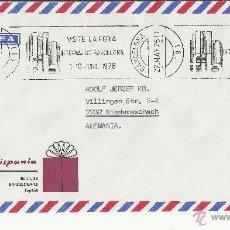 Sellos: BARCELONA CC 1976 RODILLO FERIA INTERNACIONAL DE BARCELONA. Lote 40792169