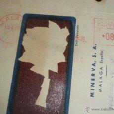 Sellos: FRANQUEO MECANICO, MINERVA SA. MALAGA 1956.. Lote 41015076