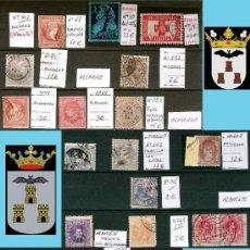 Sellos: ALBACETE Y PROV.- HIST. POSTAL, MATASELLOS Y E. LOCALES-PATRIOTICAS. P.V.1.213 € VER 3 PLANCHAS.. Lote 31583204