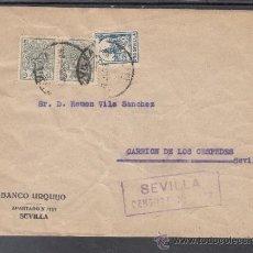 Sellos: .608T SOBRE SEVILLA A CARRION DE LOS CESPEDES, FRANQUEO ESPECIAL MOVIL 337 EN PAREJA Y LOCAL 675 MA+. Lote 41359330