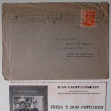 Sellos: SOBRE CIRCULADO 1951 GERONA-MALLORCA, REMITE JUAN CABOT LLOMPART+FOLLETO . Lote 41386576